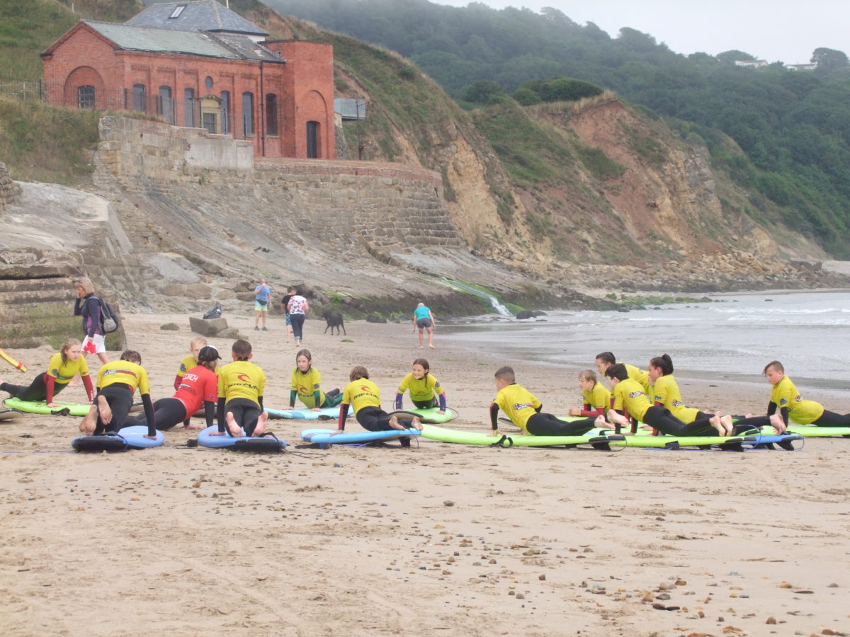 0b1d25aa15f99 The perfect way to finish off a great week with their new surf buddies!